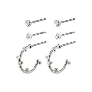 Pillgrim Gracefulness earrings - silver