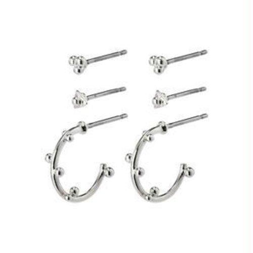 Pilgrim Gracefulness earrings - silver