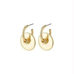Pillgrim Clarity deco hoops - gold