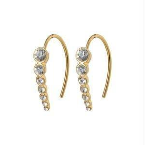 Pillgrim Legacy crystal earrings - gold