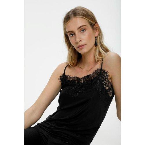 SOAKED in luxury  Clara singlet - black