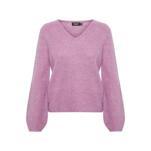 SOAKED in luxury  V-neck jumper - orchid