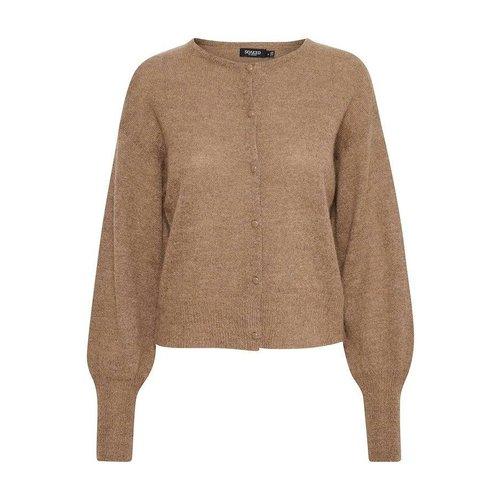 SOAKED in luxury  Padma cardigan LS - brownie