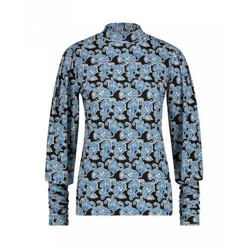 Aaiko Gena Paisley Vis top - blue