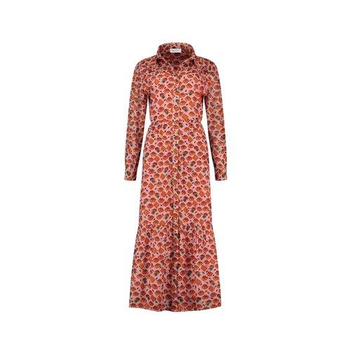 Pom Amsterdam  Dress - winks and kisses pink
