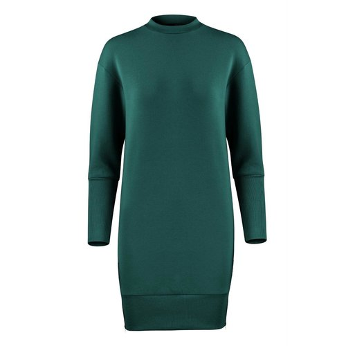 House of Gravity Sweater Dress in Emerald Green