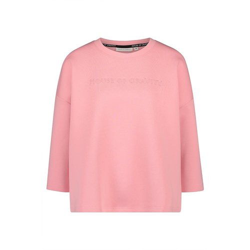 House of Gravity Signature Sweater in Flamingo Pink