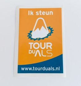Tour du ALS 'Ik steun' sticker