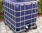 Regenwassertanks mit Sichtschutz 1000l IBC