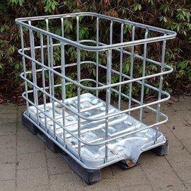IBC Gitterbox weitmaschig auf Metall / PE klein