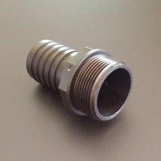 Schlauchanschluss für Regenwassercontainer mit 38mm 1-1/2 Zoll Schlauch mit 1-1/2 Zoll Aussengewinde #BU112AG38 IBC-REGEN-USER