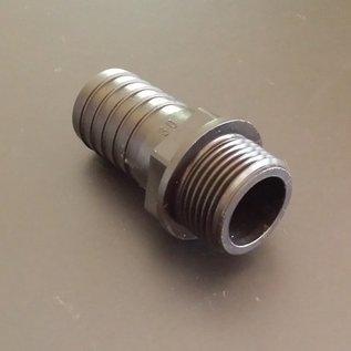 IBC Schlauchtülle für 30mm 1-1/6-Zoll Schlauch mit 1-Zoll Aussengewinde #BU1AG30 IBC-REGEN-USER