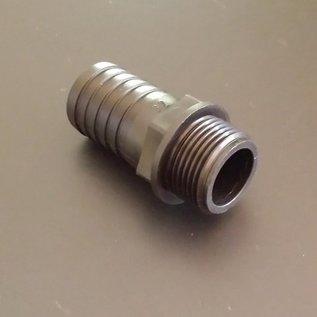 Schlauchanschluss für IBC-Container mit 32mm 1-1/4 Zoll Schlauch mit 1-Zoll Aussengewinde #BU1AG32 IBC