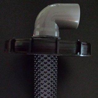 IBC Deckel 225mm mit Regenwasserfilter EXTRALANG für IBC Tank mit HT-Bogen DN 75 #65-REGEN-USER