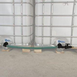 Tankverbindung S60X6 mit Schlauch für 2 Regenwassertanks nebeneinander #P51TVSMA-REGEN-USER