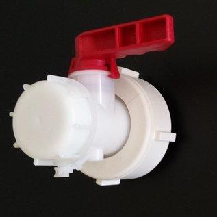 IBC S60X6 2-Zoll MAUSER / MAMOR Ersatz Auslaufhahn NEU für IBC-Container #139-REGEN-USER