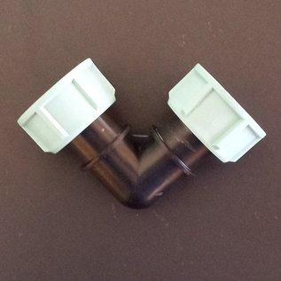 Winkel mit 2 Überwurfmuttern 1-Zoll Innengwewinde mit Dichtungen IBC #103-B2IG-REGEN-USER