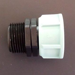 Verbinder mit 1 Überwurfmutter 1-Zoll Innengewinde mit Dichtung und 1 x 1-Zoll Aussengewinde #103-1AG-1IG-REGEN-USER