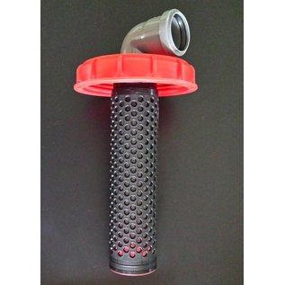 IBC Deckelfilter 150 mm mit DN-50 mm HT-Bogen Anschluss für Regenwasser #60-REGEN-USER