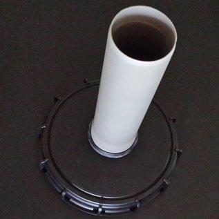 IBC Tankdeckel 225mm mit HT (DN 70) DN 75 / 75mm Rohranschluss #73G-REGEN-USER
