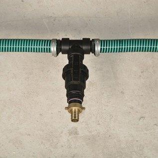 Tankverbindung mit Schlauch für 2 Regenwassertanks gegenüber mit IBC-S60X6 Anschlüsse mit Absperrhahn #56 TVGMA-REGEN-USER