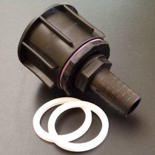 IBC S60X6 Adapter mit Anschluss für 25 mm / 1-Zoll Schlauch #P25-S(#22)-REGEN-USER