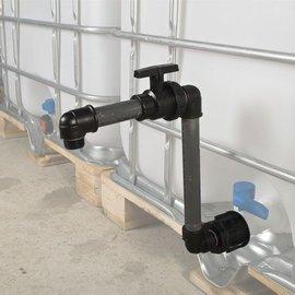Regenwassertank IBC Container Auslauf Schwanenhals
