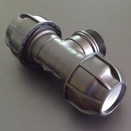 IBC Klemmverbindung 2'' AG x 50mm T-Stück