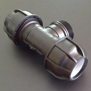 IBC PP Klemmverbindung 50mm T-Stück auf 2-Zoll Aussengewinde #401-REGEN-USER