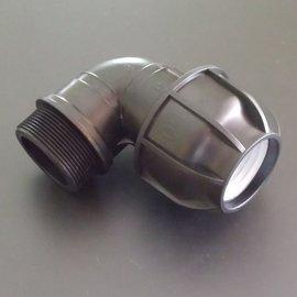 IBC PP Klemmverbindung 2'' AG x 50 mm Winkel