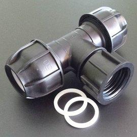 IBC Adapter für 50 mm Rohre T-Stück