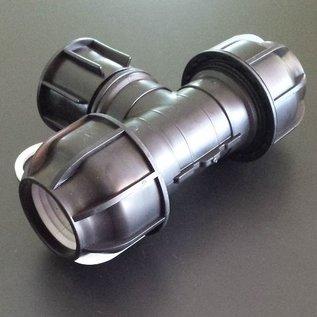 IBC Adapter für 50 mm Rohre T-Stück KLEMMVERBINDUNG #P1401-REGEN-USER