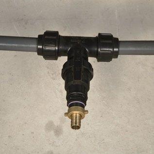 Rohrverbindung für 2 Wassertanks gegenüber mit Feingewinde 2-Zoll mit Absperrhahn #F86 TVGMA-REGEN-USER
