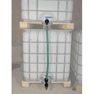 Schlauchverbindung 2 IBC Regenwasser Behälter Feingewinde 2-Zoll übereinander mit Absperrhahn #F54TVÜMA-REGEN-USER