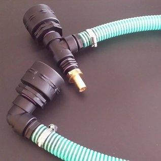 Wassertankverbindung mit Schlauch für 2 Ausläufe IBC Feingewinde 2-Zoll 58mm übereinander #F53TVÜ-REGEN-USER