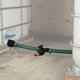 Verbindung für 2 Regenwasseranks gegenüber IBC Feingewinde 2-Zoll & Absperrhahn #F56TVGMA-REGEN-USER