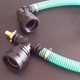 WassertankVerbindung mit Schlauch für 2 Ausläufe IBC Feingewinde 2-Zoll 58mm nebeneinander #F50 TVS-REGEN-USER