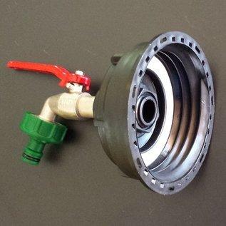 IBC Wassertank S100X8 3-Zoll Anschluss mit GARDENA- (kompatibel) Kugelhahn #Z15G-REGEN-USER