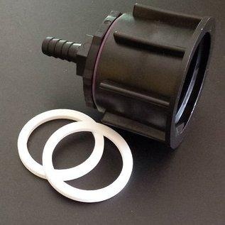 IBC Regenwassertank S60X6 Auslauf Adapter mit 12-13 mm 1/2-Zoll Schlauchtülle #P13-S(#20)-REGEN-USER