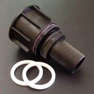 IBC Regenwassertank S60X6 Anschluss Adapter mit 38 mm Tülle für 1-1/2-Zoll Schlauch #P38-S(#23)-REGEN-USER