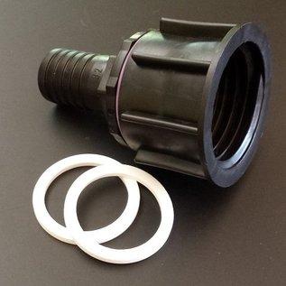 IBC Wassertank 2'' S60X6 Anschluss Adapter mit 32 mm Tülle für 1-1/4-Zoll Schlauch #P32-S(#24)-REGEN-USER