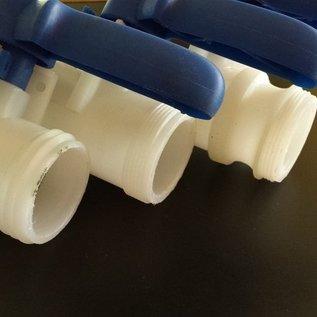 IBC Wassertank mit FEINGEWINDE 2-Zoll Auslauf mit Kugelhahn GARDENA #F15G-REGEN-USER