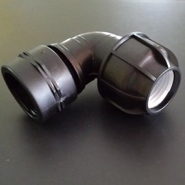 IBC Adapter für 50 mm Rohre Bogen
