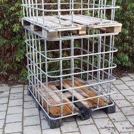 Basis XXL Gitterboxen weitmaschig auf Holz / Kunststoff