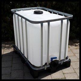 IBC Trinkwasser Tank 600l / 640l NEU auf Vollkunststoffp.