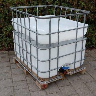 Hochbeet urbanes Gärtnern 'Chrut' 200 Liter über Regenwasser- Speicher auf Holzpalette #2H-200-600-REGEN-USER