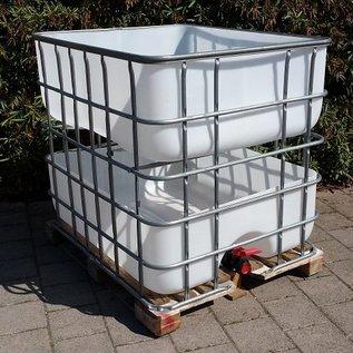 Hochbeet urbanes Gärtnern mobil 'Chrut und Rüebli' 400l über 400l Regenwasser- Speicher auf Holzpalette #2H-400-400-REGEN-USER