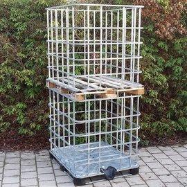 Basis XXL Gitterboxen weitmaschig auf Metall-/PE-Pal.