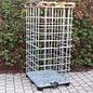 2m3 IBC Gitterboxen Basis weitmaschig für Brennholzlagerung auf Metall-/PE- & Holz-Palette #1MPE&1H-REGEN-USER