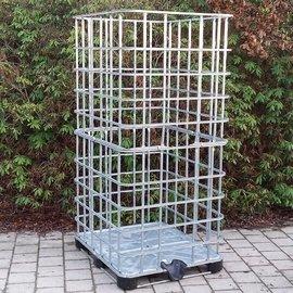 IBC Gitterbox XXL weitmaschig auf Metall-Kunststoff